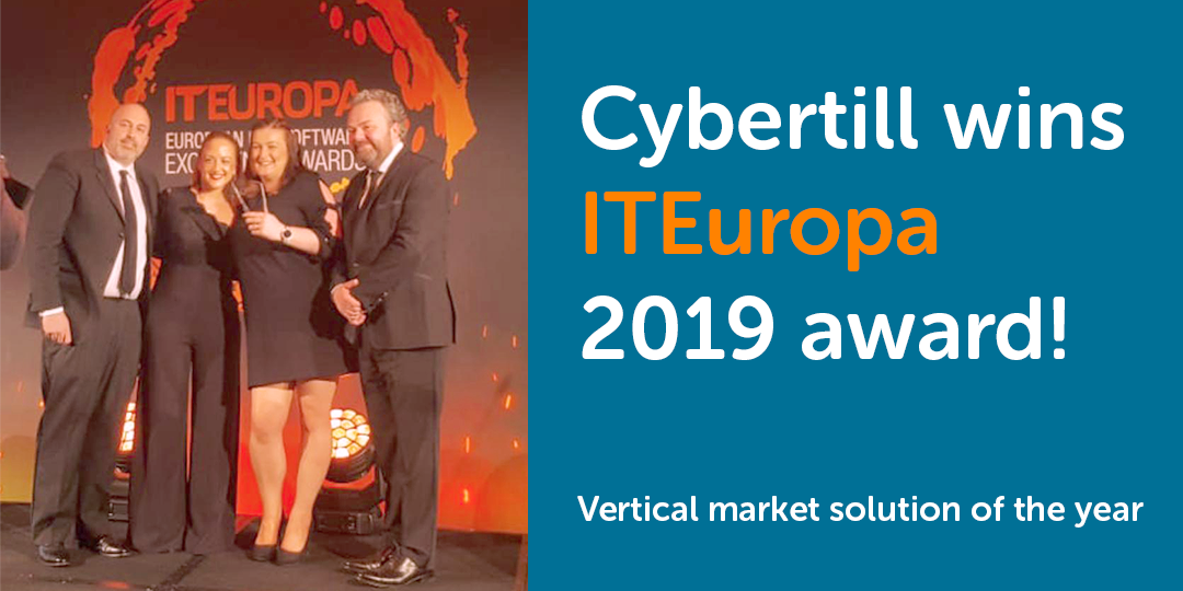 "UPDATE: We won! ""Cybertill shortlisted for IT Europa Awards 2019"""