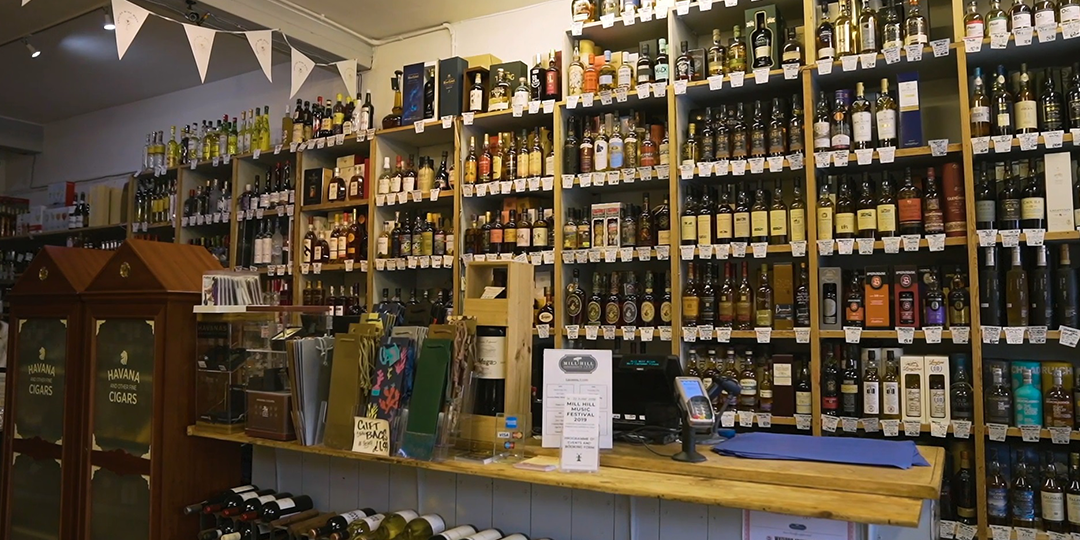 Mill Hill wines off licence retailer case study