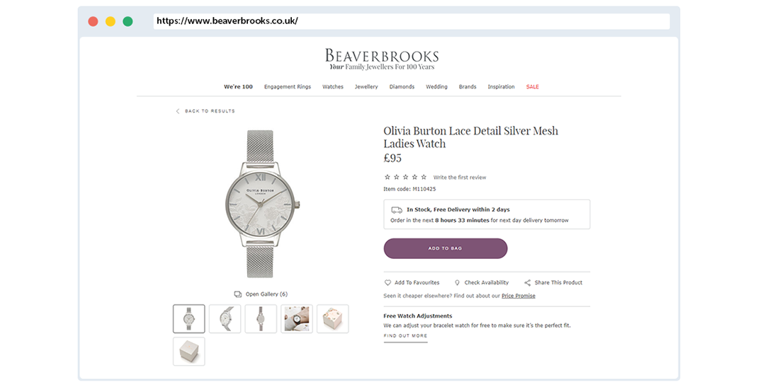 Beaverbrooks Ecommerce Review