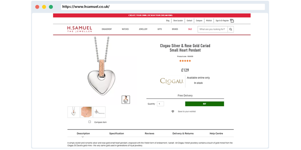 h samuel ecommerce review