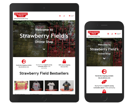 strawberry field magento 2 ipad and iphone